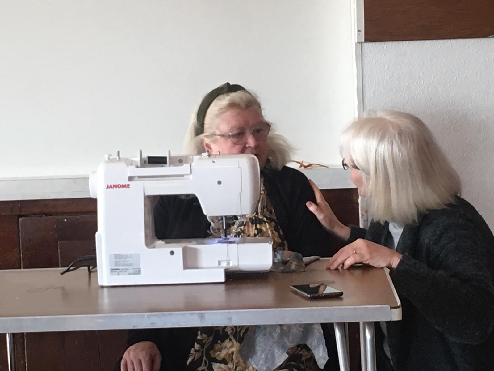 Social inclusion and tackling isolation-sewing class